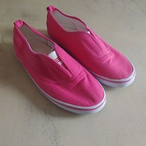 Womens Forever 21 Pink Slip on Shoes